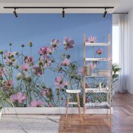 Pink Lavender Pastel Flowers Wall Mural
