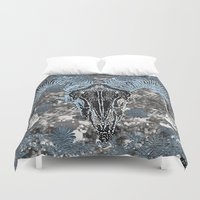 ram Duvet Covers featuring Ram by Saundra Myles