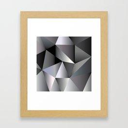 Mosaic Black Framed Art Print