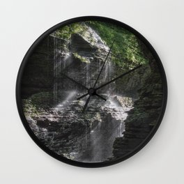 Rainbow Falls at Watkins Glen Wall Clock
