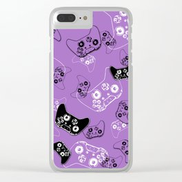 Video Game Lavender Clear iPhone Case