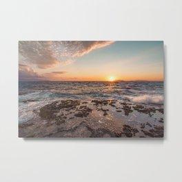 Peaceful atmosphere at sunset Metal Print