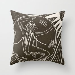 Space inside Space Throw Pillow