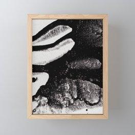 Black splash Framed Mini Art Print