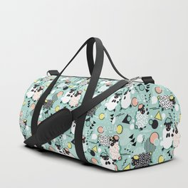 Mééé Memphis sheep // mint background Duffle Bag