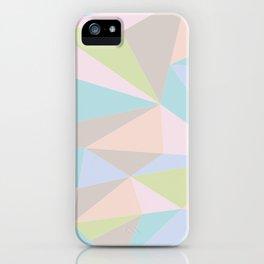 Pastel Triangles iPhone Case