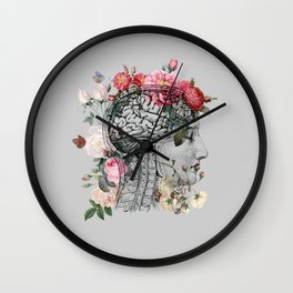 Beautiful Brain ~ Gray Wall Clock