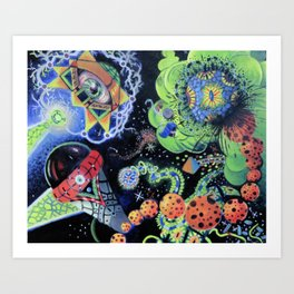 alien impact Art Print