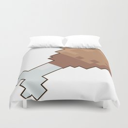 8 bit chicken Duvet Cover