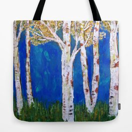 Golden Aspens Tote Bag