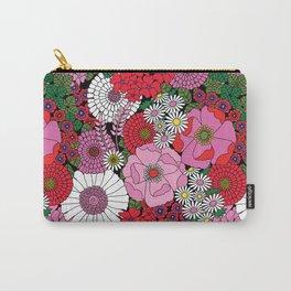 Vintage Florals Geranium Carry-All Pouch