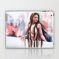 Beside the Wall She Stood Laptop & iPad Skin