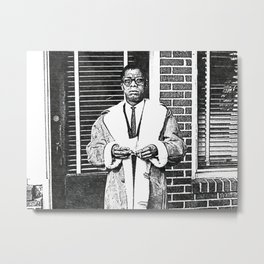 James Baldwin - Society6 African American Playwright - Essayist Poet - Black Activist 098 Metal Print