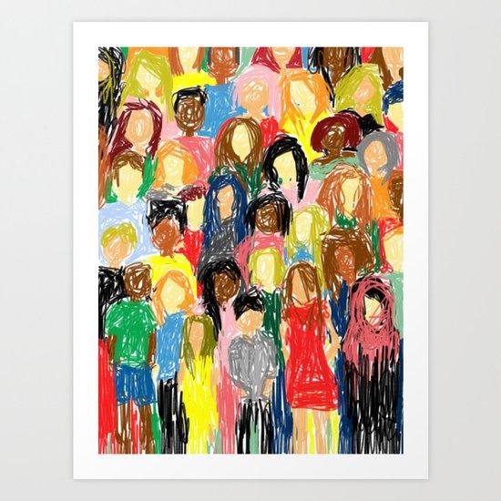 People, 2013. Art Print