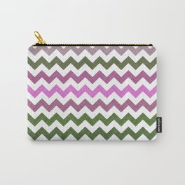 Pink Roses in Anzures 1 Chevron 1T Carry-All Pouch