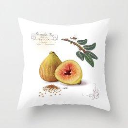 Strangler Fig and Pollinator Throw Pillow
