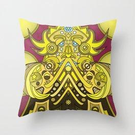 Mandala Man Throw Pillow