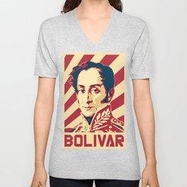 Simon Bolivar Venezuela Retro Propaganda Unisex V-Neck