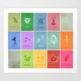 Merlin Minimalist Poster: Season 1 Art Print