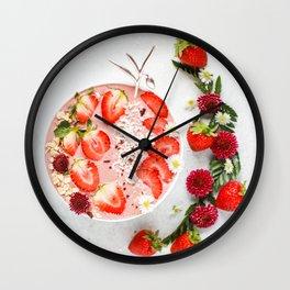 strawberry smoothie #society6 #decor #buyart Wall Clock