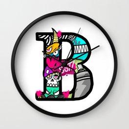 initial B Wall Clock