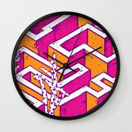 In a labyrinth Wall Clock