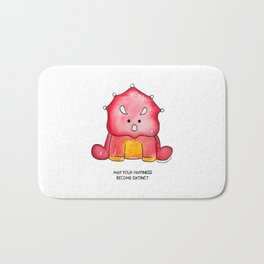Trudy the Triceratops Bath Mat