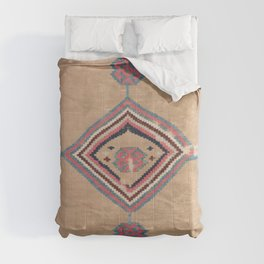 Blush Tan and Pink Medallion // 19th Century Authentic Colorful Baby Blue Cowboy Accent Pattern Comforters