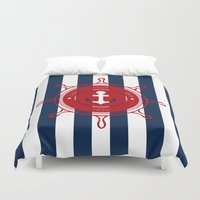 nautical Duvet Covers featuring Nautical by Katherine GM