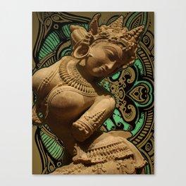 Indian Goddess Uttar Pradesh Apsara Golden Canvas Print