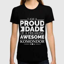 Proud dad Komondor Dog Dad Owner Father's Day T-shirt