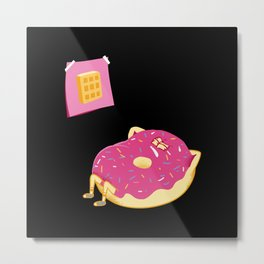 DONUT GIVE UP Metal Print