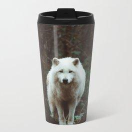 White wolf Metal Travel Mug