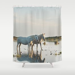 Camargue Horses #20 photograph Shower Curtain