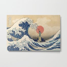 The Great Wave - New York Metal Print