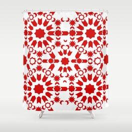 Red Arabesque Shower Curtain