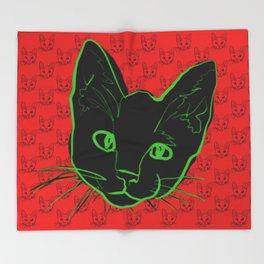 Chat de Chaos Throw Blanket