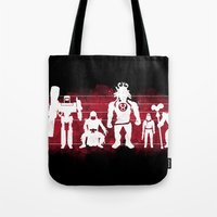 thundercats Tote Bags featuring Plastic Villains  by powerpig