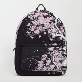 Blooming tree in shopping cart Backpack