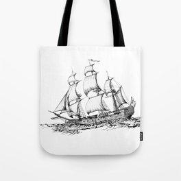 sailing ship . Home decor Graphicdesign Tote Bag