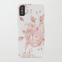 Roses Rose Gold Glitter Pink by Nature Magick iPhone Case