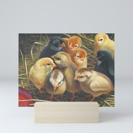 baby chicks Mini Art Print