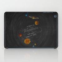 carl sagan iPad Cases featuring Wanderers - Carl Sagan by Casey Ligon