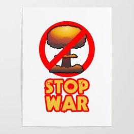 STOP WAR No Bomb Sign Poster