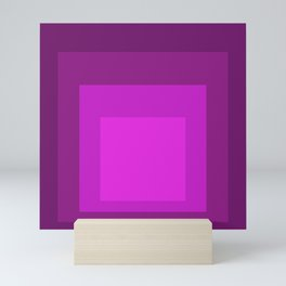 Block Colors - Purple Pink Mini Art Print
