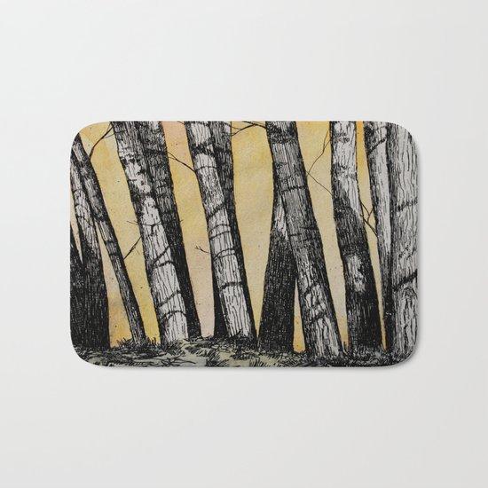 Row of Trees Bath Mat