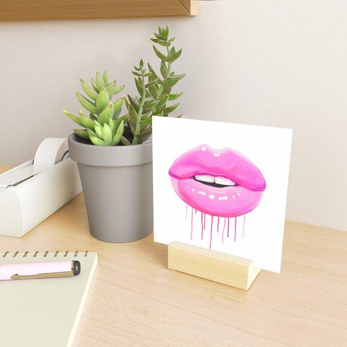 Pink lips Mini Art Print