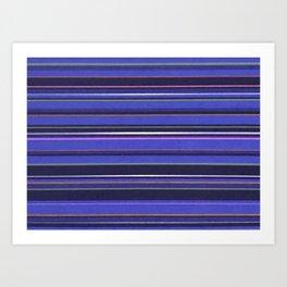 Blue-Purple Striped Pattern Art Print