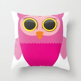 Lovely Cartoon Sowa Throw Pillow