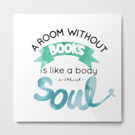 a room without a books Metal Print